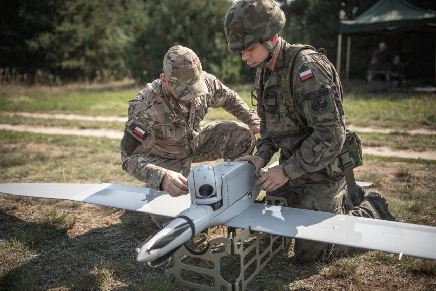 Żołnierze WOT zakończyli szkolenie zobsługi BSP FlyEye