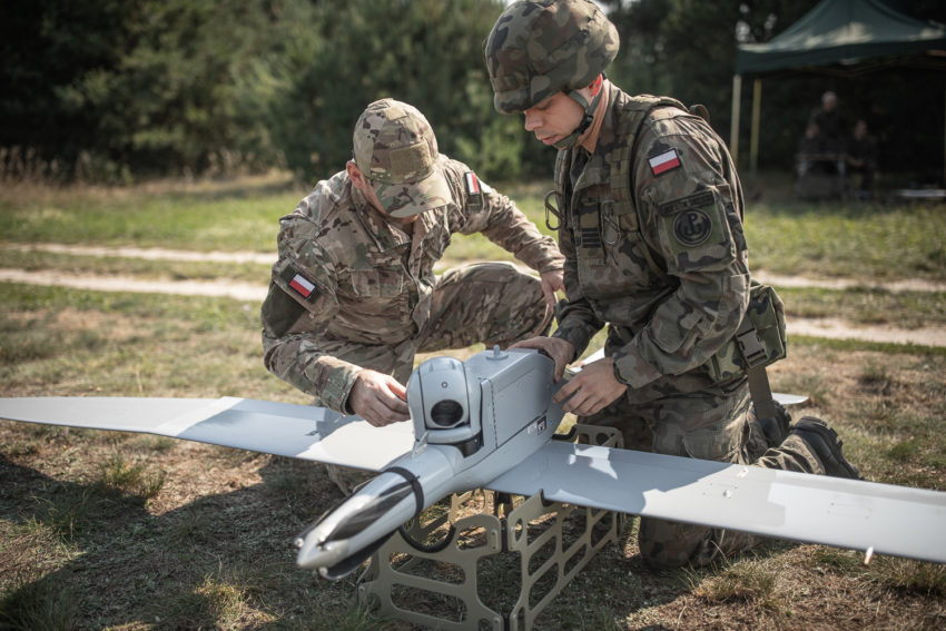 The Polish Territorial Defense Force soldiers completed the first FLYEYE UAV flight operations training.